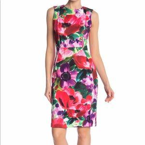 Calvin Klein Watercolor Floral Sheath Dress